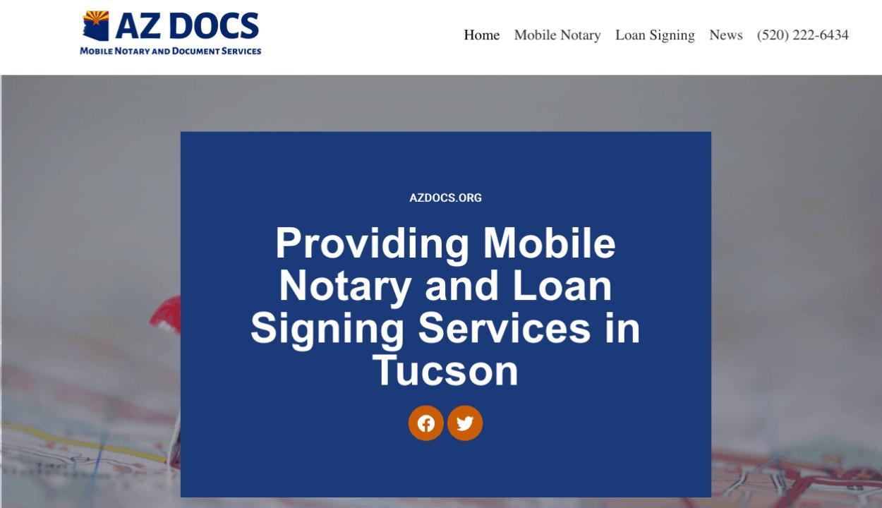 AZ Docs website screenshot