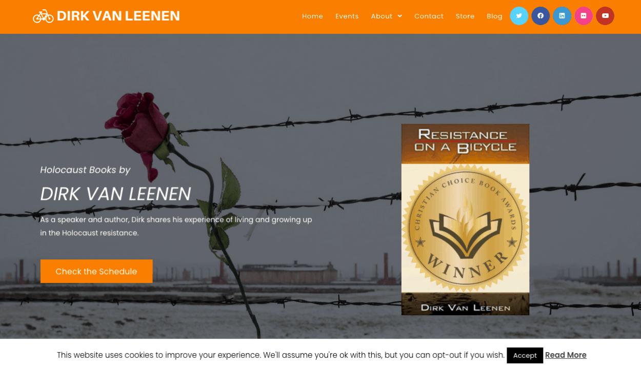 Dirk van Leenen website screenshot